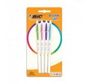 Lot de 4 stylos Bic Cristal Up Pouch X4 Tunisie