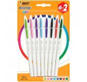 Lot de 8 stylos Bic Cristal Up Pouch X8 Tunisie