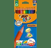 Crayons de couleur BIC Kids Evolution ECOlutions X12 Tunisie