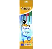 Lot de 4 stylos Bic Cristal Soft Pouch X4 Tunisie