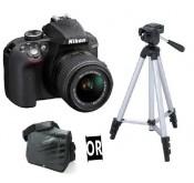 NIKON D3300 + Objectif 18-55 VR +Tripied ou Sacoche