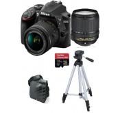 Nikon D3400 Body +  18- 55VR + 18-140 VR +Tripied+Sacoche+SD Extreme 32