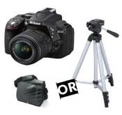 NIKON D5300 + Objectif 18-55 VR +Tripied ou Sacoche