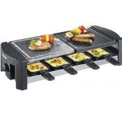 Severin RG9640; Grill raclette avec pierre de cuisson & Surface à griller, 8poélons, 1400W