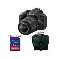NIKON D3200 + Objectif 18-55 VR + Carte SD 16 Go + Sacoche