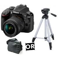Nikon D3400 + 18- 55 VR +Tripied ou Sacoche