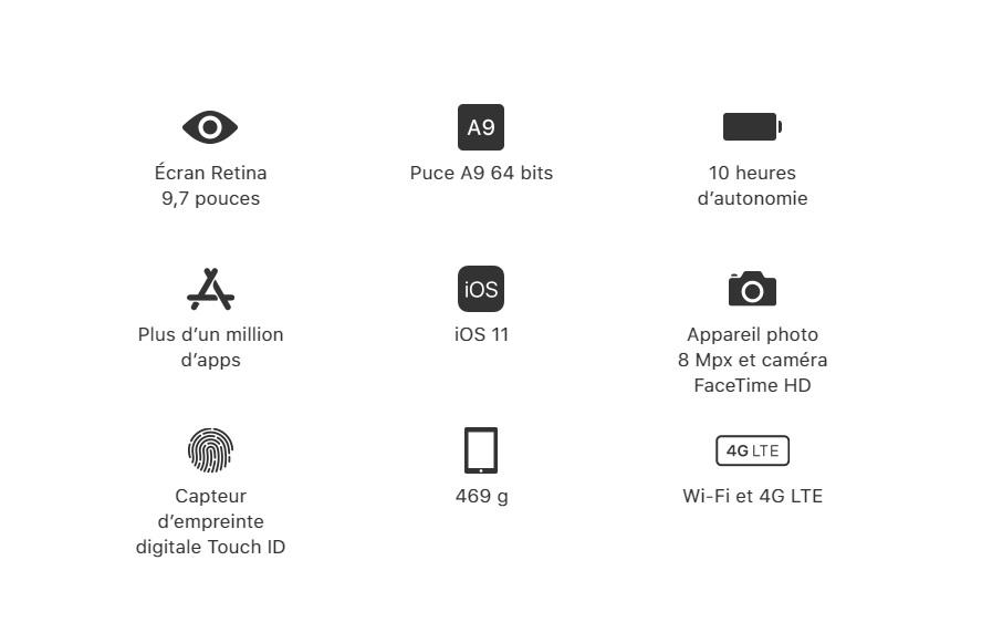 IPAD Wifi cellular 5e Génération 32GB
